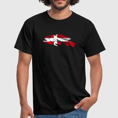 Denmark Fishing Flag - Männer T-Shirt