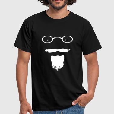 The Mad professor moustache and beard combo - Men's T-Shirt