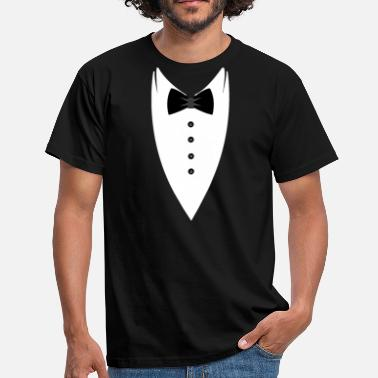 Smoking Tie Tuxedo-Bow T-SHIRT - Mannen T-shirt
