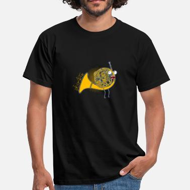 French Horn French horn / musical instrument / gift - Men's T-Shirt