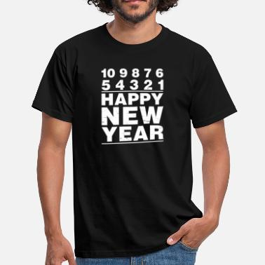 7 10 10 9 8 7 6 5 4 3 2 1 Happy New Year! Silvester - Men's T-Shirt