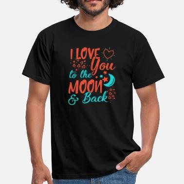 Back I Love You To The Moon and back - Men's T-Shirt