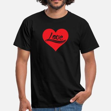 Holidays Couples Love Heart Romantic Valentine's Day Holiday Couple - Men's T-Shirt