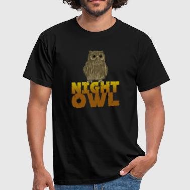 Night Birds Night Owl Nocturnal Predator Bird Lover Bird - Men's T-Shirt