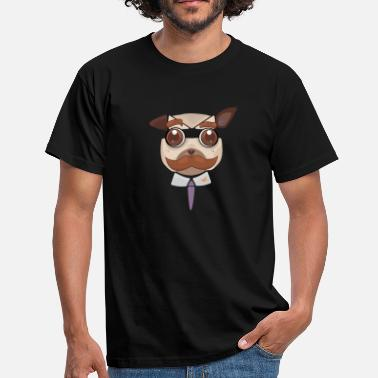 Officer Pug art - Men's T-Shirt