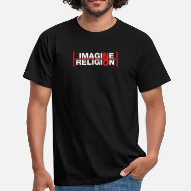 Atheist Religion Atheist - Imagine no religion - Men's T-Shirt