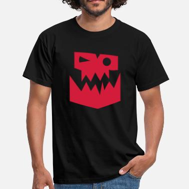 Ork Orc Face Glyph - Men's T-Shirt