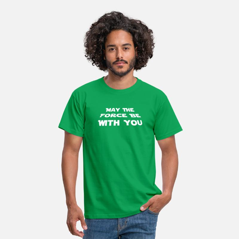 may the force be with you Star Wars Zitat Herre T shirt grøn