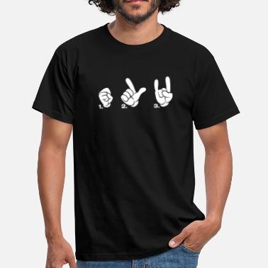 Der Finger Symbole & Formen Sign of the horns satan fork finger - Männer T-Shirt
