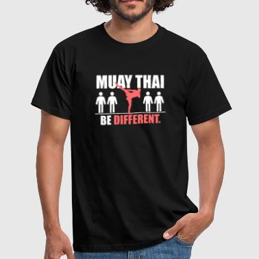 Boxing Logo Muay Thai Shirt - Be Different - Men's T-Shirt