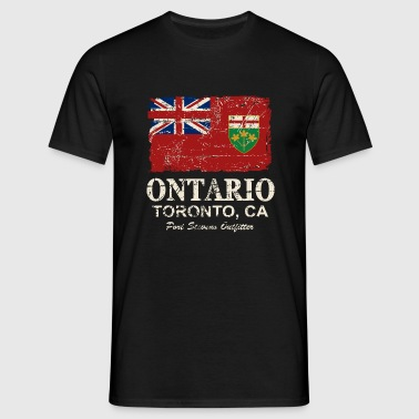 Ontario Flag - Canada - Vintage Look - Mannen T-shirt