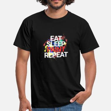 Painting Eat Sleep Paint Repeat - Men's T-Shirt