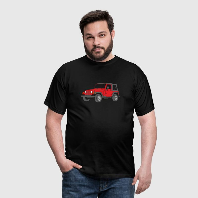 Jeep Wrangler 4WD 4x4 Off-Road - Männer T-Shirt