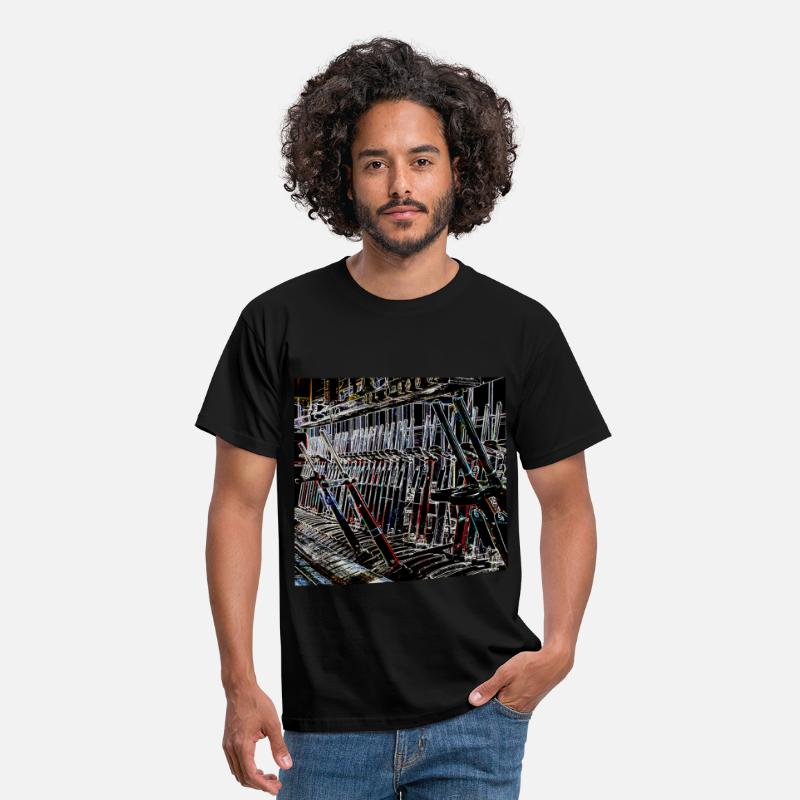 Railway T-Shirts - LNWR SIgnal Box Levers II - Men's T-Shirt black