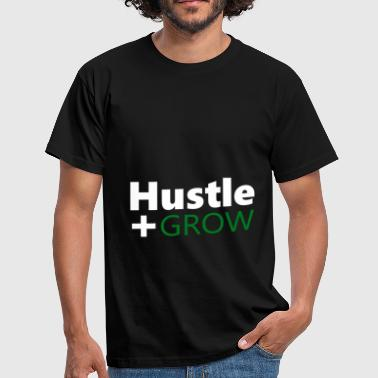 Hustle Hustler Success Work Money Money Grow - Men's T-Shirt