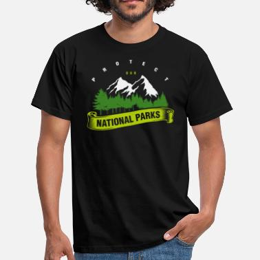 Parks And Recreation Protect Our National Parks - Nature Forest Recreation - Men's T-Shirt
