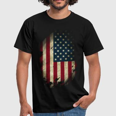 USA Flagge Used Look - Männer T-Shirt