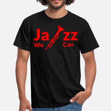 Rode Muzieknoten JAZZ WE CAN - rood - Mannen T-shirt