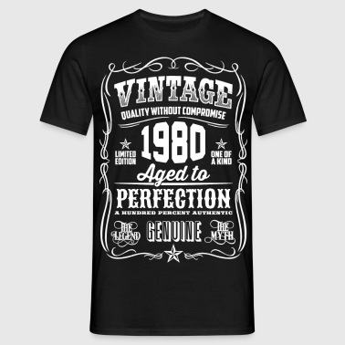 1980 Aged To Perfection whites Printed - Camiseta hombre