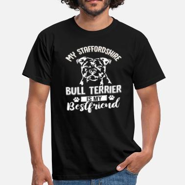 Staff Bull STAFF SHOULDER BULL TERRIER BEST FRIEND - Men's T-Shirt