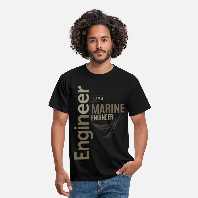Marine T-Shirts - Marine Engineer - Men's T-Shirt black