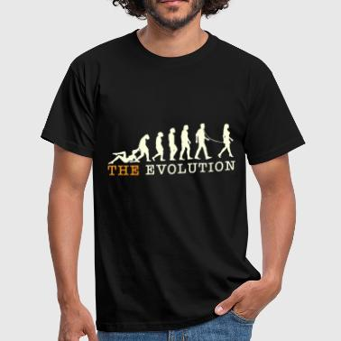 Evolution on a leash. - Men's T-Shirt