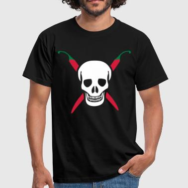Chili Skull Cook - Men's T-Shirt