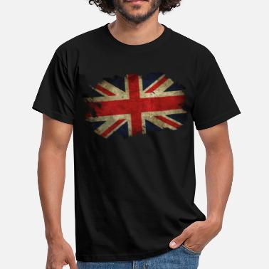 Great Britain Great Britain Flagge Used Look - Männer T-Shirt