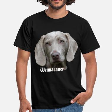 Weimaraner Weimaraner, dog head, dog face, dog, dog - Men's T-Shirt