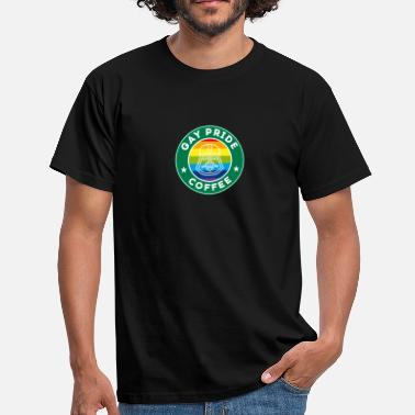 Gay Icon Coffee icon gay rainbow father humor - Men's T-Shirt