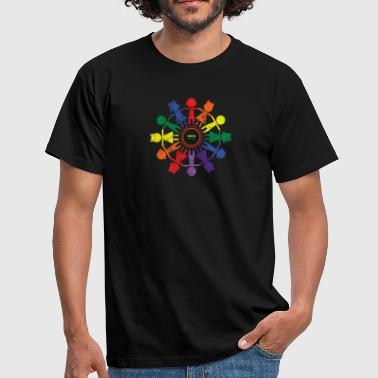 Human Rights Gift Tolerance Rainbow Human Rights Gender - Mannen T-shirt