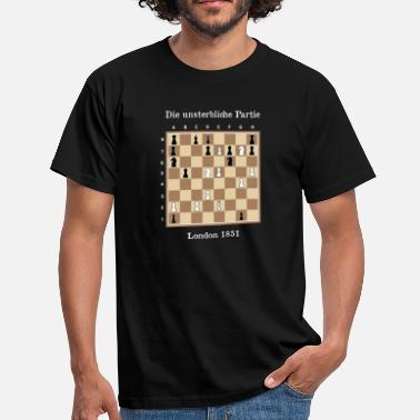 Skak The Immortal Game - Immortal Game Chess - Herre-T-shirt