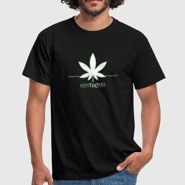 Cannabis grass smoking marijuana - Men's T-Shirt