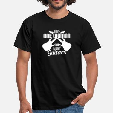 Woman LOVE ONE WOMAN AND MANY GUITARS - Men's T-Shirt