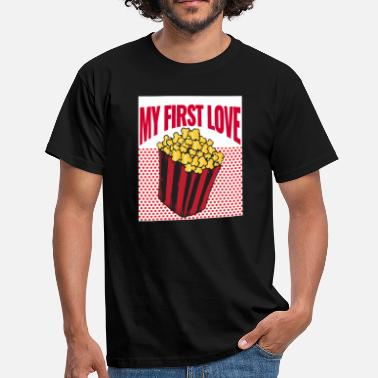 Popcorn Spruch My First Love - Popcorn - Männer T-Shirt