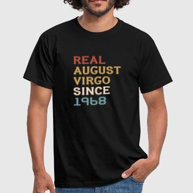 50th birthday August Jungfrau 1968 gift - Men's T-Shirt