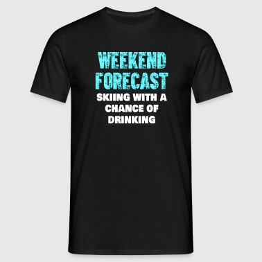Skiløb Weekend Forecast Drinking Shirt - Herre-T-shirt