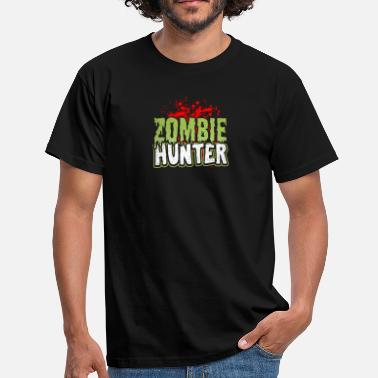 Zombiejeger Zombie Hunter Brain Eater Gift - T-skjorte for menn