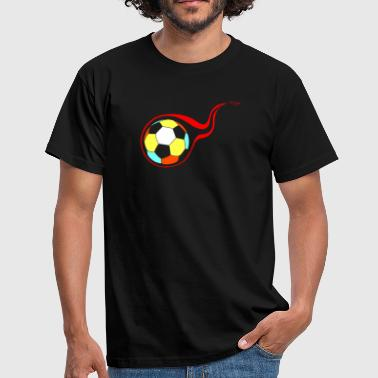 Burning Burning football - Mannen T-shirt