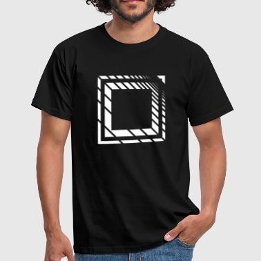 Rectangle Lines Square logo - Men's T-Shirt