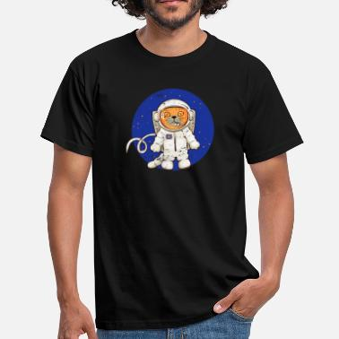 Space Funny Funny Space Cat - Men's T-Shirt