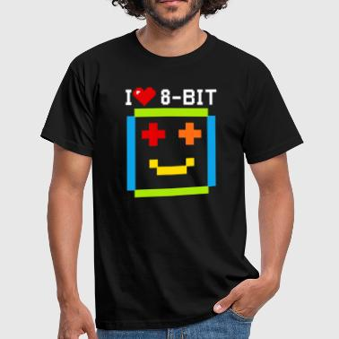 Citations Sms citation i love 8 bit informatique retro game ordi - T-shirt Homme