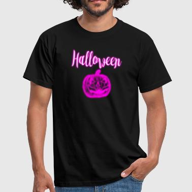Pink Strong Halloween neonlight pink pink party shirt spirit - Men's T-Shirt