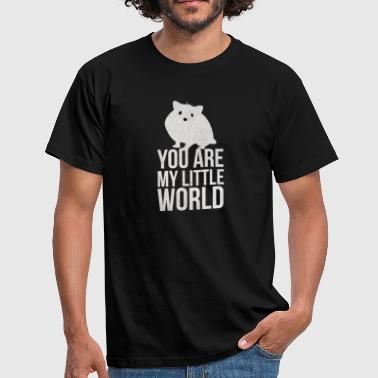 Mouse Cheese Little World I World Hamster mouse mouse cheese - Men's T-Shirt