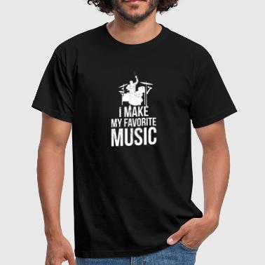 Giger Make Favorite Music I Musik Schlagzeug Drum - Männer T-Shirt
