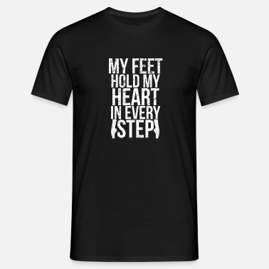 Ballet And Dance Feet Heart Step I Ballet Ballerina Ballerino Dance - Men's T-Shirt