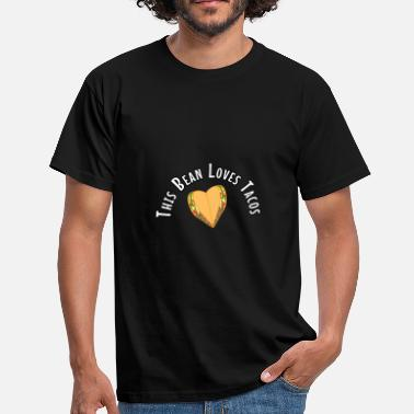 Cute Baby Bump This Bean Loves Tacos Funny Baby Bump Pregnancy - Men's T-Shirt