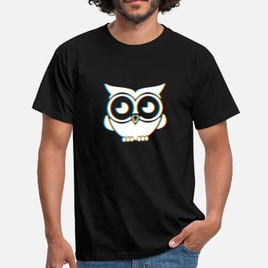 Psy Trance Psychedelic Owl Gift | Psy Trance Music Trippy - Herre-T-shirt