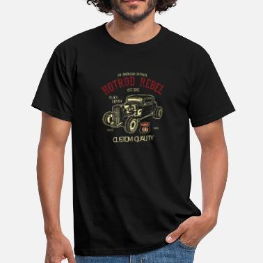 Muscle Car HotRod Rebel - T-shirt Homme