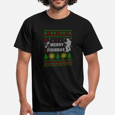 Merry Merry Fishmas sweater - Men's T-Shirt